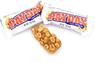 PayDay Peanut Caramel Snack-Size Bars, Fun Size .7 oz Bars (Bag of 2 Pounds)