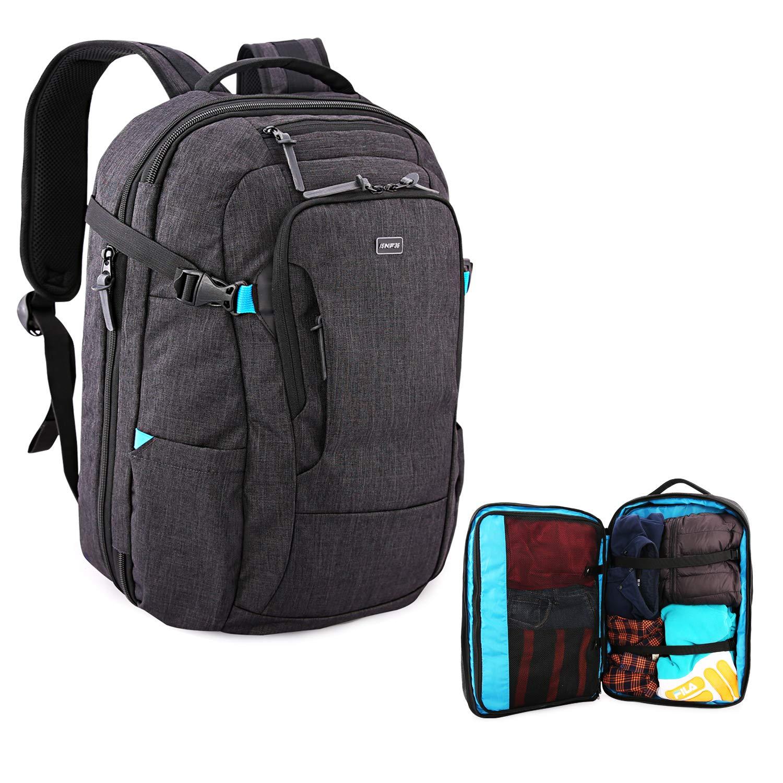 大旅行バックパック -  15.6インチラップトップバッグ、40Lのバックパックポータブル飛行承認、大きな、灰色保護するために、男性のUSB充電ポート/ RFIDパッケージ