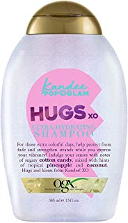 OGX Kandee Johnson Collection Hugs & Kisses Ultra Hydrating Shampoo for Color-Treated Hair, Gentle Sulfate-Free Surfactants to Help Protect Hair Color, Semi-Sweet Floral Scent, 13 fl. oz