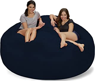 Chill Sack Bean Bag Chair: Giant 7' Memory Foam Furniture Bean Bag - Big Sofa with Soft Micro Fiber Cover - Navy Micro Suede