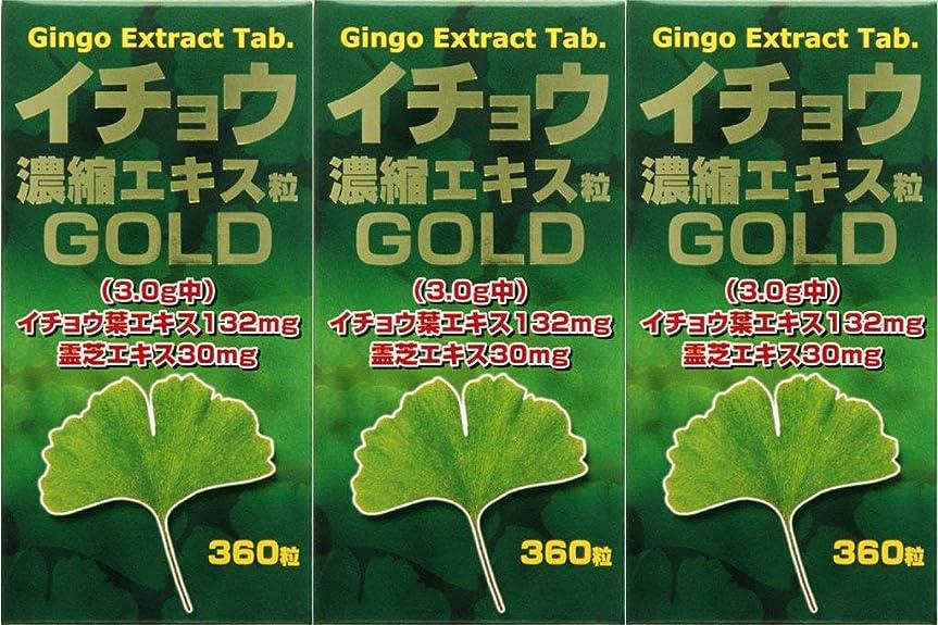 勝利したクルーズティーム【3個セット】イチョウ濃縮エキス粒ゴールド 360粒
