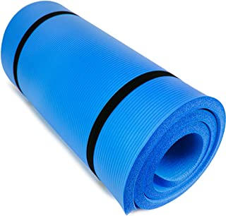 "Yoga Cloud Ultra-Thick 1"" Yoga and Exercise Mat with Shoulder Sling 