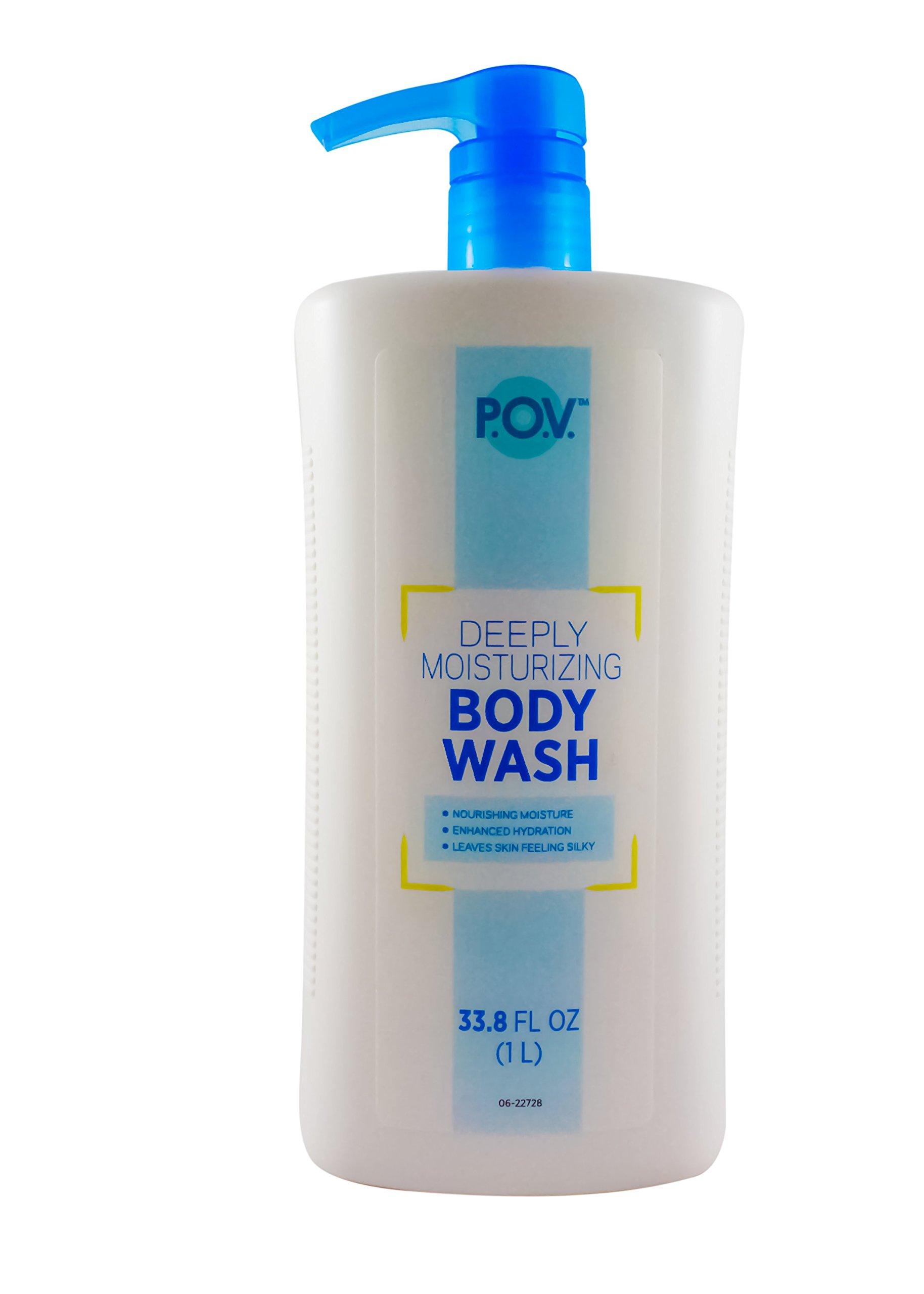 P.O.V. Deeply Moisturizing Body Wash with pump, 33.79 Fl Oz (Pack of 3)