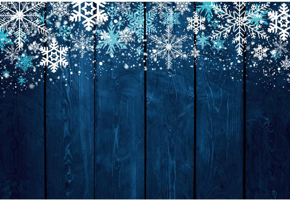CdHBH 6x9ft Winter Snow Photography Frozen Tree Background Christmas Blue Ice Sparkling Snowflake Wonderland Photo Gallery Photographic Props Festival Venue Party Arrangement