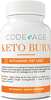 Codeage Keto Burn Capsules, Ketogenic Supplement for Keto Diet, Low Carb Diet with L Theanine, 180 Capsules