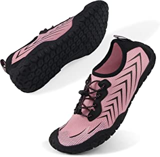 Oranginer Womens Quick Dry Water Shoes Breathable Athletic Shoes for Water Sports Outdoor Barefoot Sneakers Pink Size 6.5