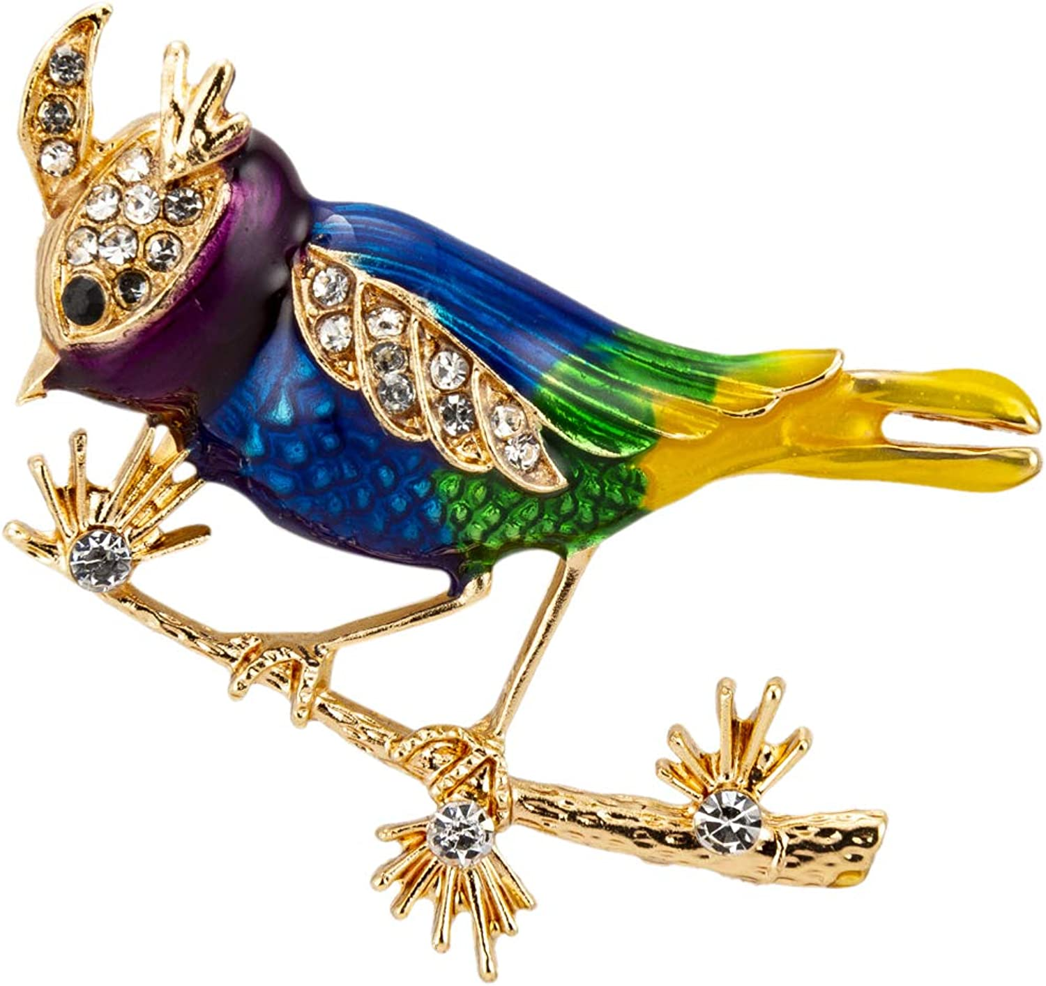 Knighthood safety Multicolour Sparrow Bird Max 48% OFF with Gold Swarovski and Deta
