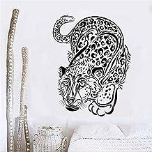 Pegatinas De Pared De Leopardo Grande Negro, Decoración Del Hogar, Sala De Estar, Vinilo Extraíble, Pintura Artística Para...