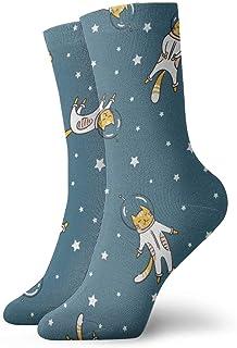 yting, Niños Niñas Locos Divertidos Divertidos Gato Astronauta Calcetines Espaciales Calcetines Lindos de Novedad
