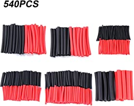 Young4us 540Pcs 3:1 Shrink Ratio Dual Wall Adhesive Lined Heat Shrink Tubing Tube 6 Sizes(Dia): 3/8