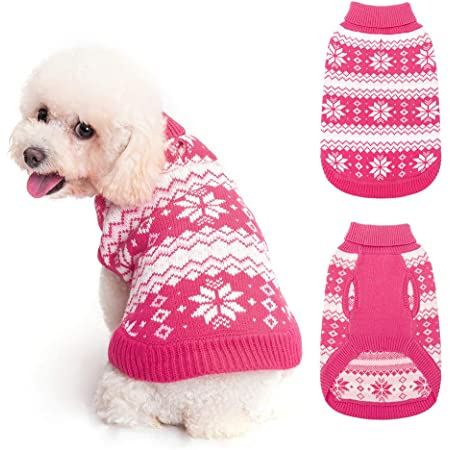 KOOLTAIL Turtleneck Dog Jumper Soft Sweater Coat Warm /& Comfortable Dog Knit Winter Clothes Outfit