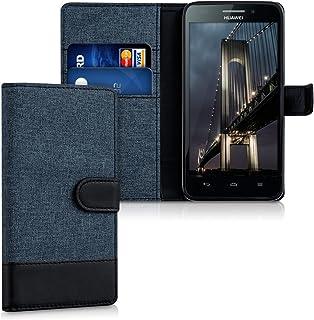 kwmobile Huawei Ascend G620s 用 ケース - スマホカバー 手帳型 PUレザー - 携帯 保護ケース カードポケット スタンド 付き