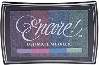 Tsukineko Full-Size Encore Multi-Color Ultimate Metallic Pigment Inkpad, Enchanted Evening