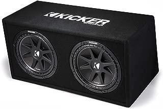 Kicker 12 Inch 600 Watt Comp Dual Car Audio Loaded Subwoofer Enclosure | 43DC122