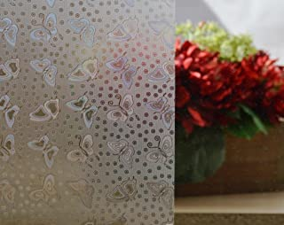 Butterfly Decorative Window Film, Self Static Adhesive Cling, 35.5 inches by 72 inches