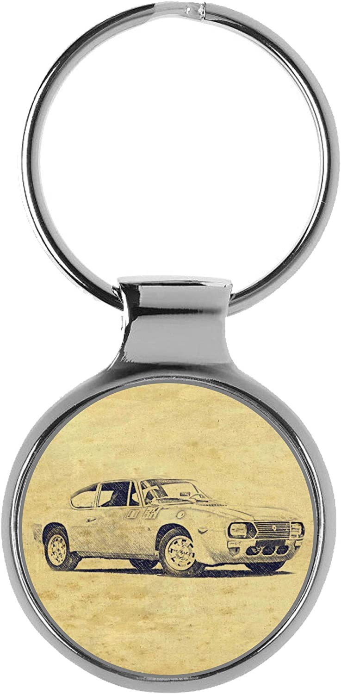 KIESENBERG Key Chain Ring Max 48% OFF Gift for Lancia Sport Max 58% OFF Fan A-639 Fulvia