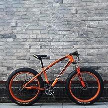 Fat Tire 26 Pulgadas de montaña para Hombre de la Bici, Bici de la Playa, Bicicletas Doble Freno de Disco Crucero, 4,0 Amplia Ruedas, Adulto Nieve de Bicicletas