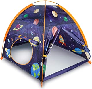 "MountRhino Rocket Ship Play Tent Playhouse for Kids Indoor Outdoor Astronaut Space Kids Play Tent, Portable Kids Pop Up Play Tent for Boys Girls Imaginative Camping Playground Games Gift 48""x48""x42"
