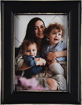 Fetco Home Dcor Longwood Rustic Black 5x7 Picture Frame