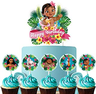 26 Moana Cake Topper Cupcake Toppers Set Decorations Birthday Party Topper for Children