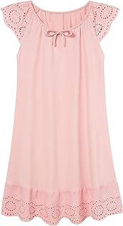 Girls Nightgowns Cute Princess Sleepwear Flutter Sleeve Pajamas Nightie Dress 5-12 Years