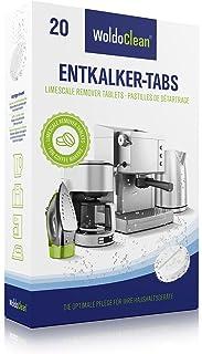 Descalcificador Cafetera Pastillas de descalcificación - 20x 16g Tabletas para máquina de café, Compatible con marcas Delonghi, Dolce Gusto, Nespresso, Seaco, Krups, Senseo