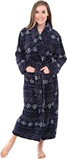 Image of Blue Snowflake Robe for Women - Perfect for Christmas & Winter Wear