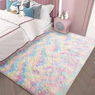 AROGAN Soft Rainbow Area Rugs for Girls Room 3x5 Feet,...