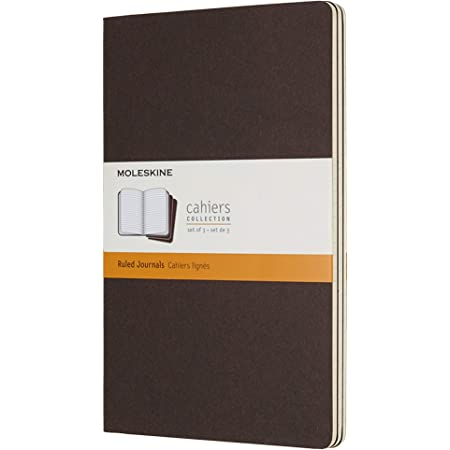 Moleskine Coffee Brown Large Ruled Cahier Journal (Set of 3)