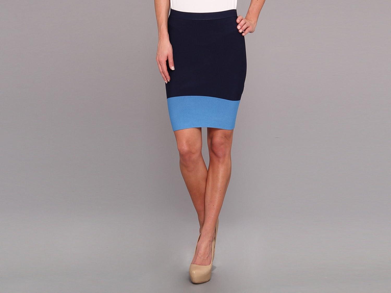 BCBGMAXAZRIA Women's Joelle Knit Sweater Skirt Navy Combo XS (US 2)