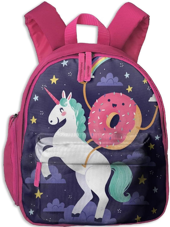 Pinta Cute Donut with Unicorn Cub Cool School Book Bag Backpacks for Girl's Boy's