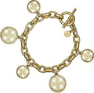 Open Monogram Disc Charm Bracelet
