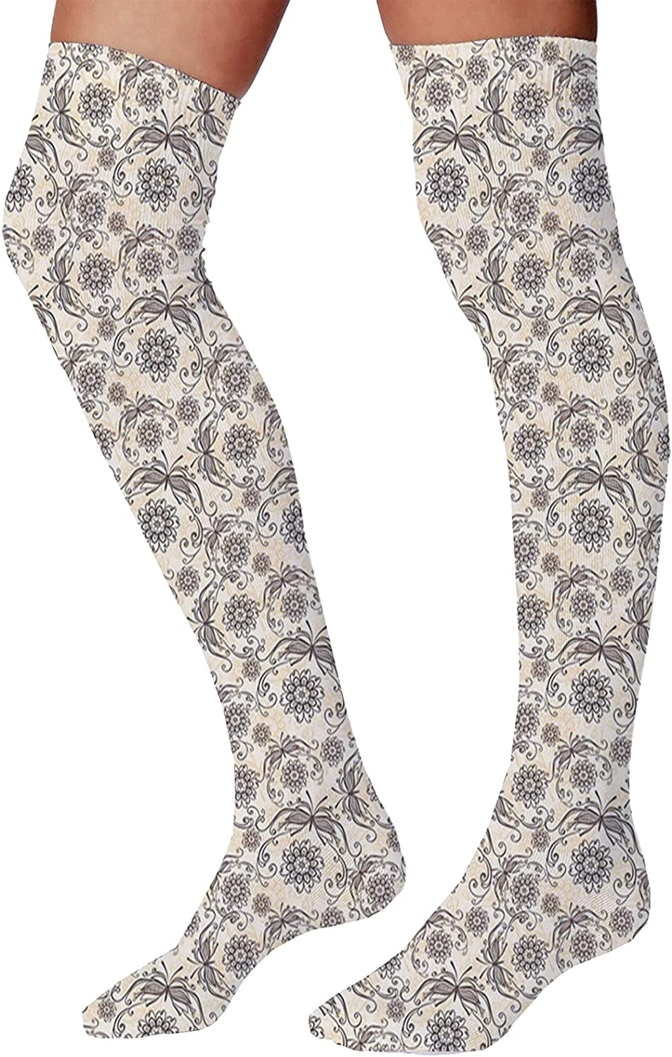 Men's and Women's Fun Socks,Natural View of Hallstatt in Austria Mountains Forest Town Houses Clear Sky