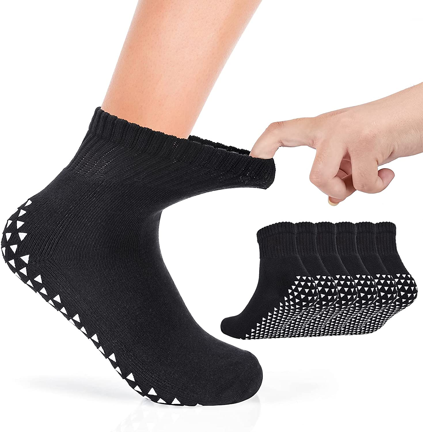 Indianapolis Mall 3 Pairs Sales of SALE items from new works Super Wide Socks Lymphedema with Non-Skid for Grips