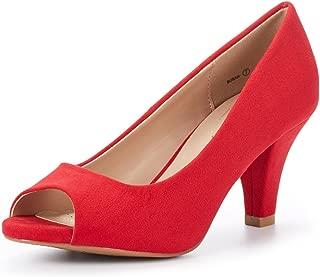 Best red suede peep toe pumps Reviews