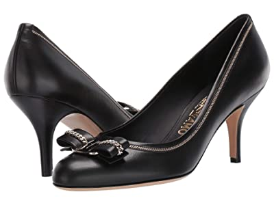 Salvatore Ferragamo Carla 70 Chain (Nero) Women