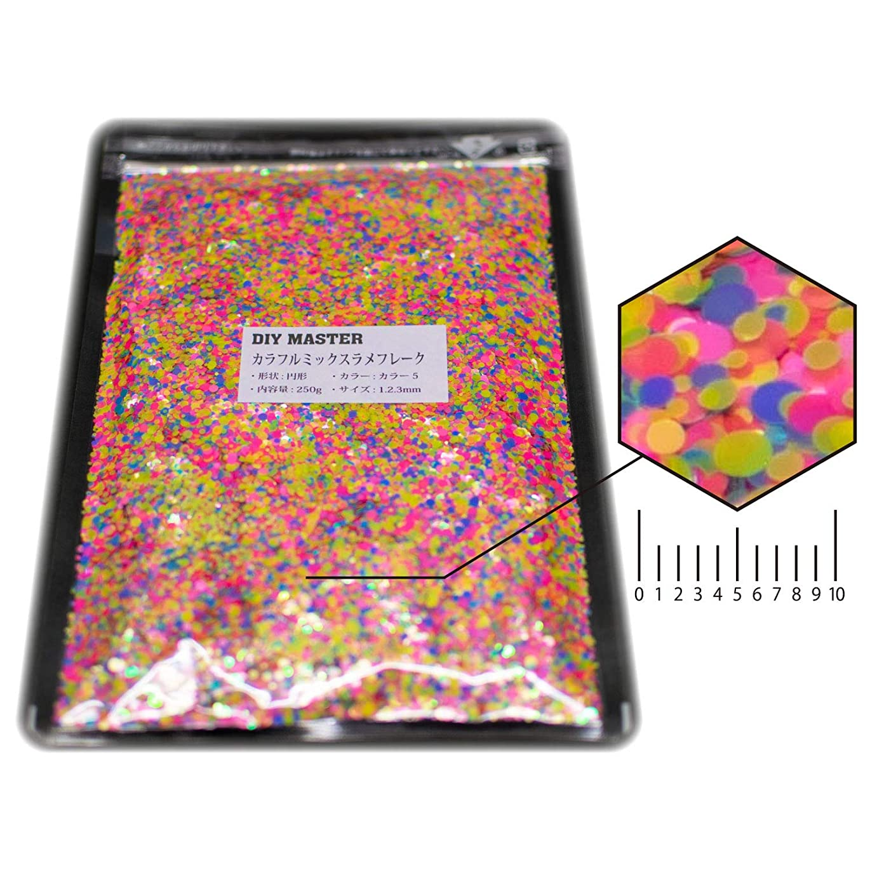 罪悪感債務者シンプルなDIY MASTER カラフルミックス ラメ フレーク カラー5 1.2.3mm 250g