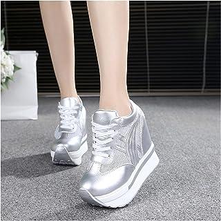 JinHongShop Dames Sneakers Wedge Baskets Haute Top Casual Chaussures Femmes Platform Sneakers Femme Chaussures Formatrices...