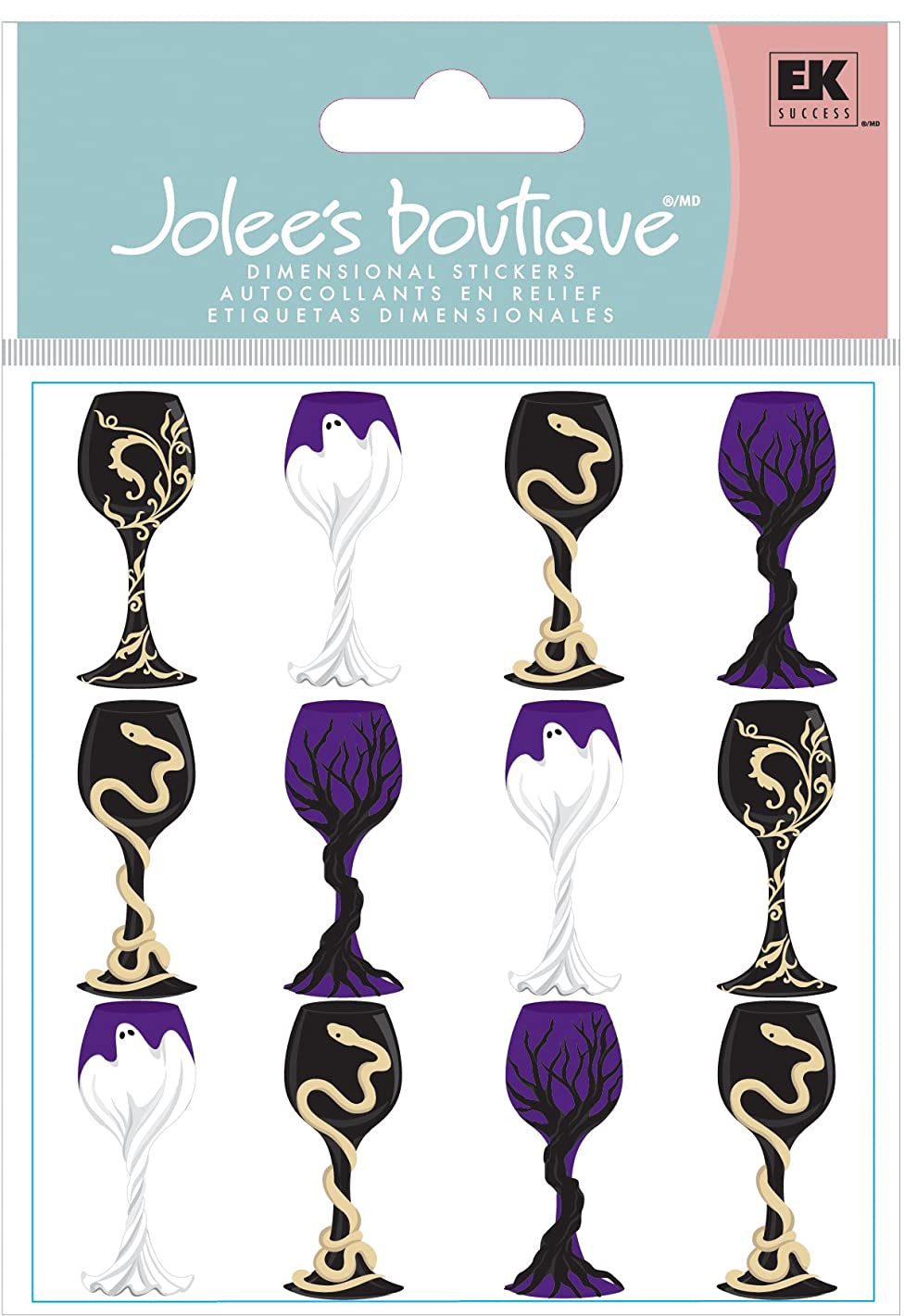 Jolee's Boutique Dimensional Stickers, Halloween Goblets