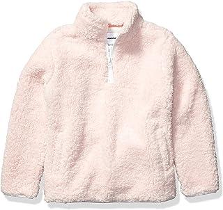 Amazon Essentials Girl's Polar Fleece Lined Sherpa Quarter-Zip Jacket