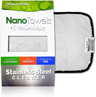 Sponsored Ad - Nano Towels Stainless Steel Cleaner | The Amazing Chemical Free Stainless Steel Cleaning Reusable Wipe Clot...