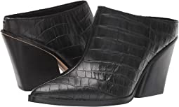 Noir Croco Print Leather
