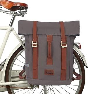 TOURBON Waterproof Bike Laptop Pannier Rear Rack Bicycle Backpack for Men Women