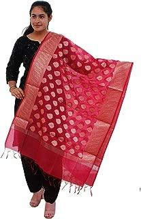 Chanderi Silk Banarsi Dupatta for Women