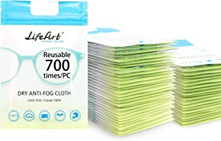 50 Pack Anti-Fog Wipes, Eyeglasses Cleaning Cloths, Cleaning Wipes for Eyeglasses, Tablets, Screens, Lens Wipes for Camera Lenses.