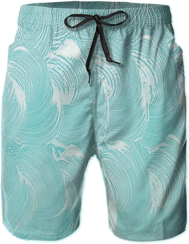 Foam and Soap Carbonated Clean Fresh Hygiene Purity Shampoo Design Mens Swim Shorts Casual Workout Short Pants Drawstring Beach Shorts,XL