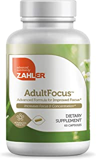 Zahler AdultFocus, Advanced Formula for Increased Focus and Concentration, Certified Kosher, 60 Capsules