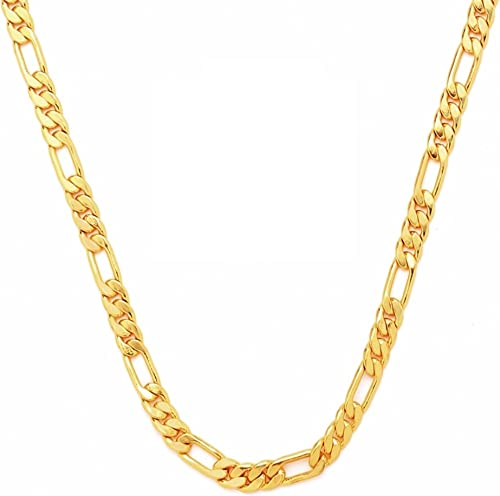 Goldnera Most Popular Spiral Rope Gold Plated 20 Inches Chain Necklace For Men Boys