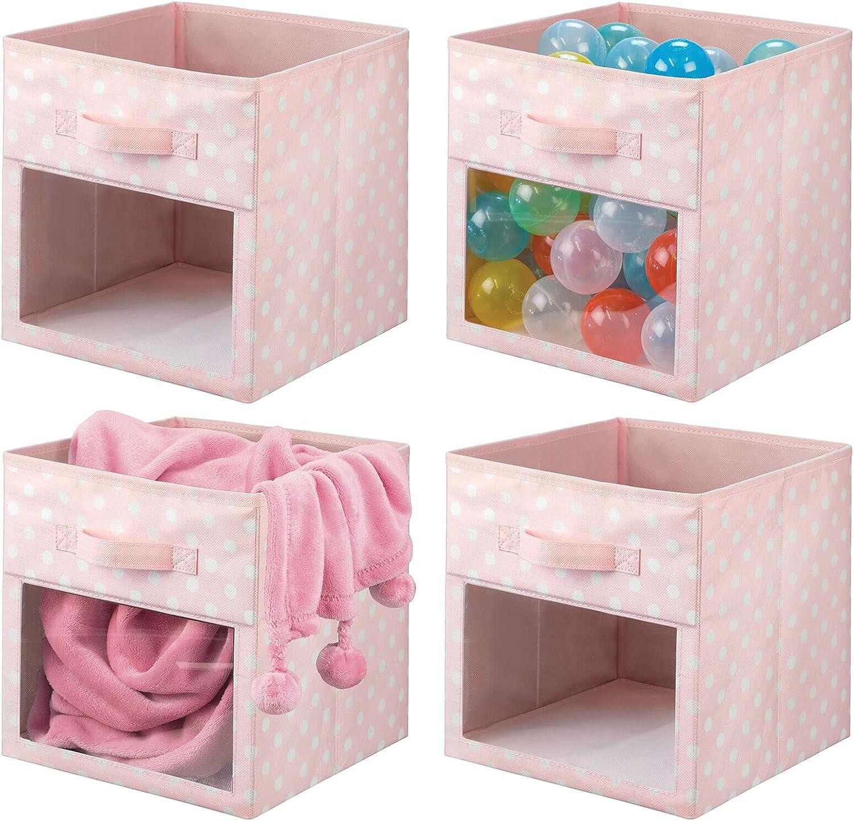 mDesign Soft Fabric Super-cheap Closet Storage Organizer Clear Bin Cube Ranking TOP16 Box