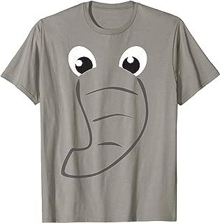 Elephant Face Cute Kids Halloween Costume Animal Gift T-Shirt